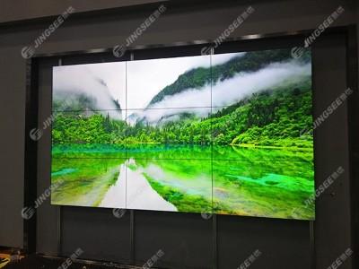 河北高碑店国家超低能耗建筑基地55寸1.8mm 3*3液晶拼接屏