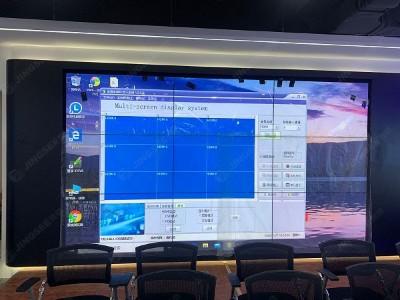 山东潍坊节能环保产业园55寸3.5mm 3*3液晶拼接屏