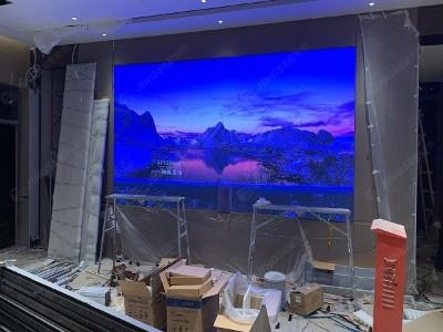 天津河北区某在建的售楼处P2.5 LED显示屏