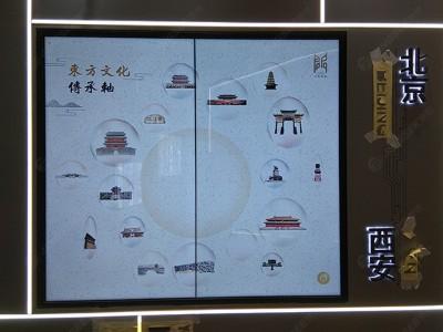 陕西西安未央售楼处55寸1.7mm1X2液晶拼接屏