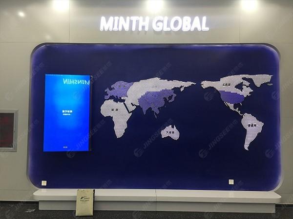 天津中新生态城55寸广告机