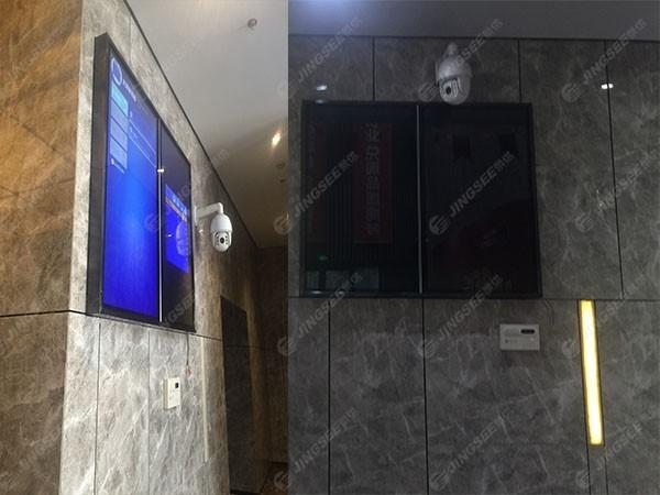 天津市河西区美年广场55寸壁挂式广告机