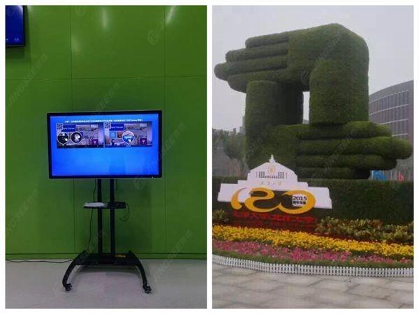 天津大学北洋园校区55寸液晶广告机