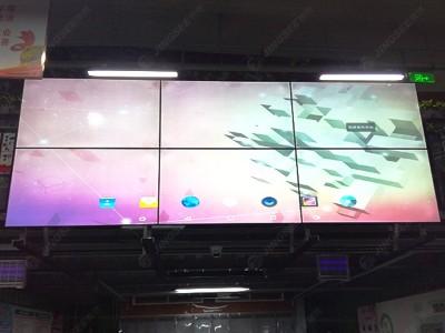 天津宜景菜市场55寸8mm2*3液晶拼接屏