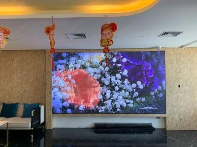 天津河西国墅装饰  P2.5室内全彩LED显示屏