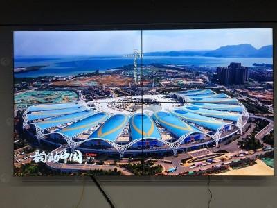北京双清大厦55寸3.5mm 2*2液晶拼接屏