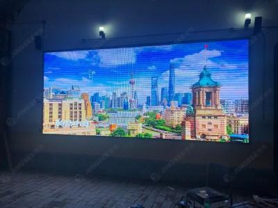 北京门头沟村委会室外P4 全彩LED显示屏