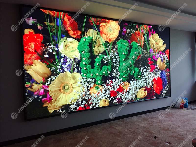 天津塘沽第八大街某集团P2LED显示屏